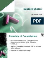 SubjectChoicePresentation_March2015