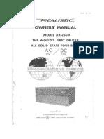 Realistic_DX150A HF Comms Reciever_Manual