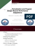Optimizing Periodization and Program Design Muscle Performance Adaptations