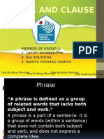 Group 1 - Phrase and Clause