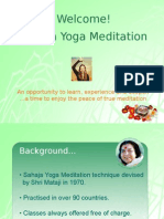 Introduction to Sahaja Yoga Plus Knowledge of the Chakras May 2012