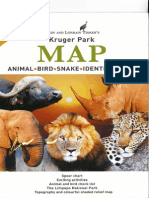Kruger-Park, MAP, Animal-Bird-Snake-Identification Tinkers safari guide in English, 2012