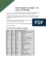 Lista de Verbos Irregulares en Inglés