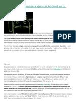 Instalar Android en La PC Paso a Paso