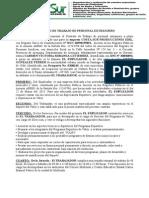 Contrato de Trabajo de Personal Extranjero