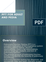 Pft for Adult and Pedia