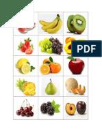 15 frutas