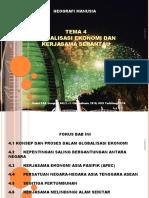Modul P&P Geografi 942/2 Tema 4 - Globalisasi Ekonomi Dan Kerjasama Serantau