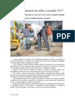 02.10.2013 Comunicado Avanza Recuperación de Calles y Avenidas EVV