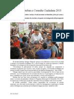 02.10.2013 Comunicado Convoca Esteban a Consulta Ciudadana 2013