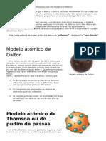 A Evolouçãos Do Modelo Atômico