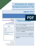 Reporte Mensual de Conflictos Sociales N 138 Agosto 2015.1