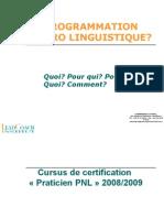 Presentation Du Cursus PNL