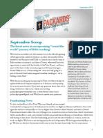 Packards' Progress - September Scoop