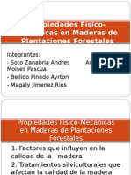 Propiedades Fisico Mecanicas en Plantaciones