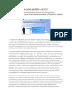 Model Pembelajaran Kurikulum 2013