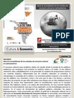 Carlos Enrique Guzmán Cárdenas Estudios de Consumo Cultural 3 Sept 2015 en RD