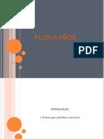 PLON 6 Años Parte 1. Fono