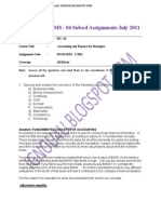 Ignou Mba Ms - 04 Solved Assignments July 2011-Restricted