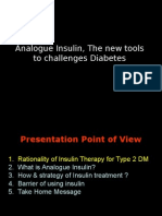 Analogue Insulin, The New Tools to Challenges Diabetes 1
