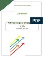 5.Cuadernillo Actividades Para Empezar Bien El DÃ a Enero 2014 6
