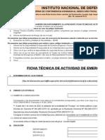 Formato de Ficha Tecnica de Actividad de Emergencia Año 2015 Final