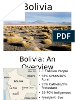 Presentation on Bolivia