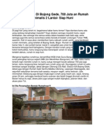Dijual Rumah Di Bojong Gede, 700 Juta an Rumah Minimalis 2 Lantai- Siap Huni
