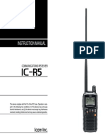 Receiver_IC-R5 Instruction Manual
