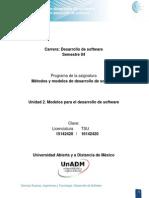 Unidad 2. Modelos Para El Desarrollo de Software