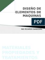 Diseño de Elementos de Maquinas - Materiales, propiedades y tratamientos