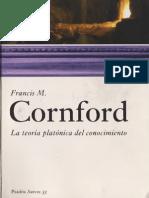 Cornford F M La Teoria Platonica Del Conocimiento Ed Paidos 2007
