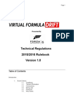 Virtual Formula Drift 2015/2016 Official Rulebook