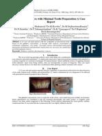 Ceramic Veneers with Minimal Tooth Preparation-A Case Report