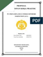Proposal Kerja Praktek PHE ONWJ