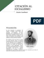 Gustav Landauer. Incitacion Al Socialismo