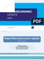 Nepal Macroeconomic Update, August 2015