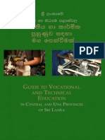 Guide to Vocational and Technical Education in the Central and Uva Provinces of Sri Lanka- Sinhala