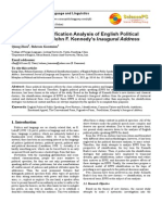 A Rhetorical Identification Analysis of English Political Public Speaking