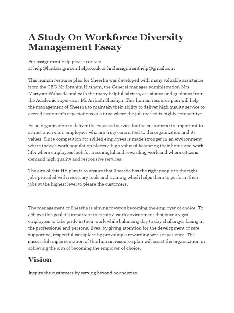 effect of workforce diversity on employee performance in anorganization Essay - Words