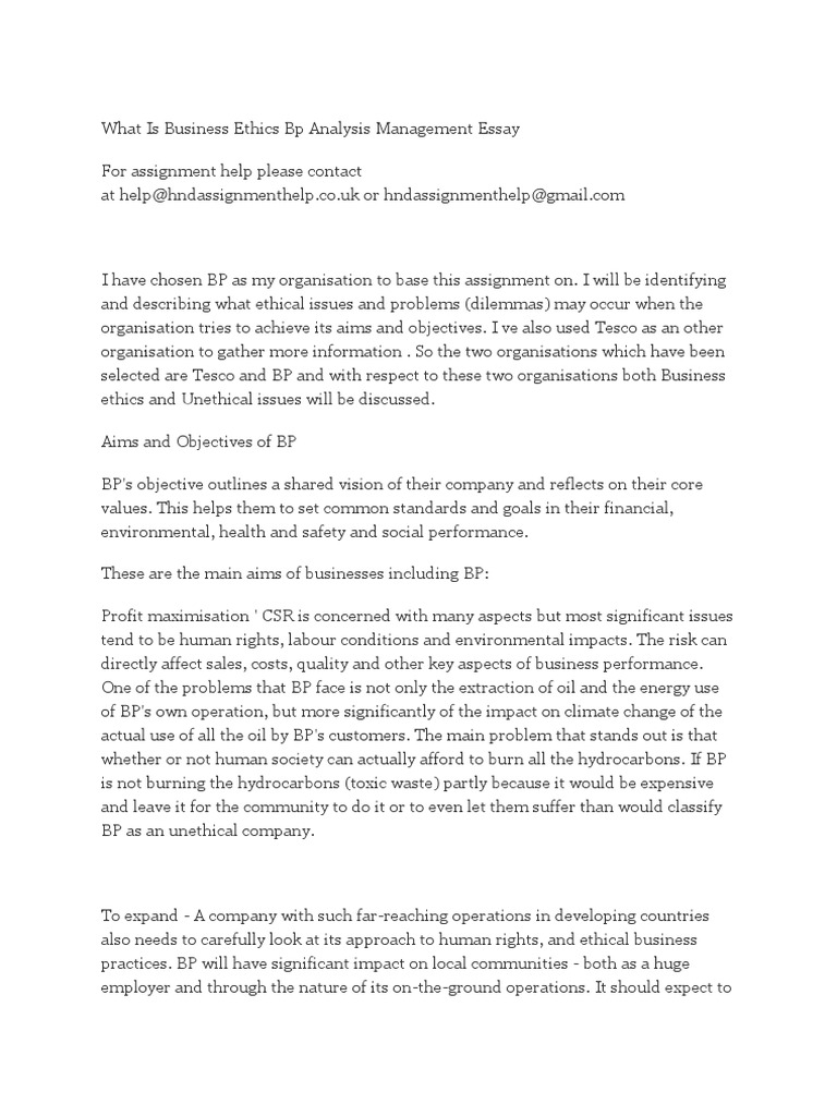 what is business ethics bp analysis management essay  bp