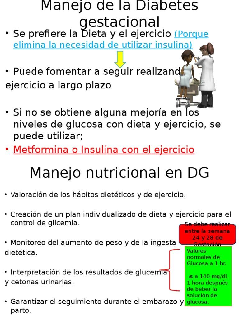 Dieta por diabetes gestacional
