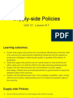 unit 12 - lesson 9 7 supply-side policies