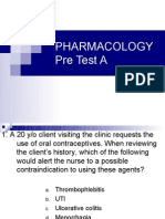Pharmacology Pre Test A