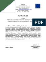 Referat Necesar Materiale 2015