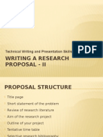 BS10 Lec - Writing a Research Proposal-II