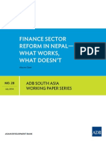 Financial SectFinancial sector reforms in Nepal- What works what does notor Reforms in Nepal- What Works What Does Not