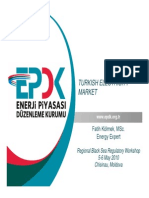 TURKISH ELECTRICITY MARKET EPDK 2010