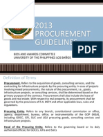 2013 Procurement Guidelines