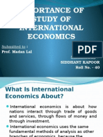 Need of the study of International Economics
